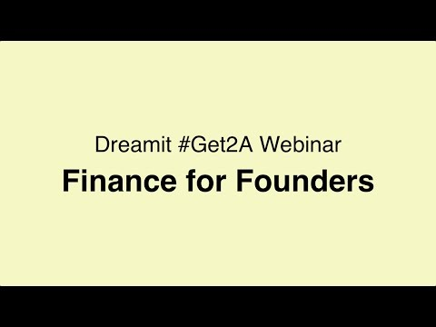 #Get2A  - 2017.04.18 - Finance for Founders