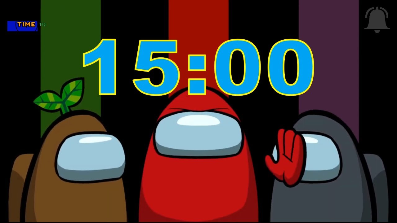 Among Us 15 Minute Timer With Among Us Cartoon Music Youtube