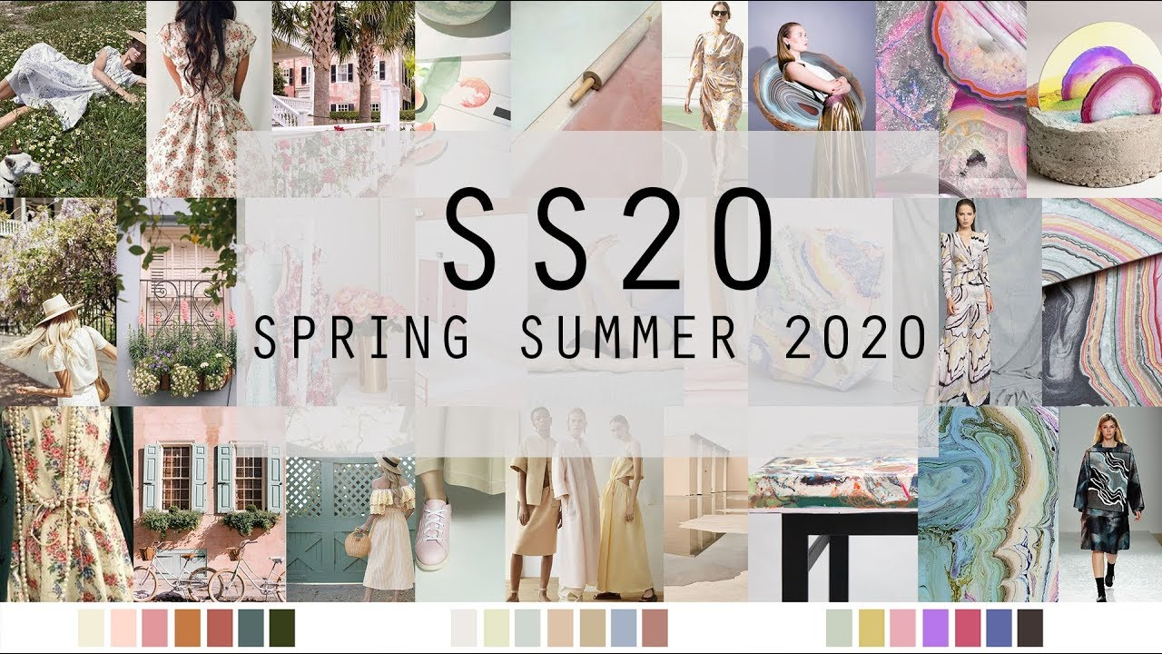 Summer Trends 2020.Spring Summer 2020 Fashion Trends Colours