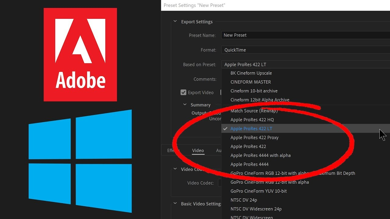 Premiere Pro can now export ProRes on Windows! (Proxies and Previews, too!)