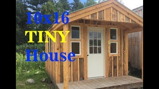 """""""the 10x16 Pond House + Sugar Shack"""" - Diy Build Small Cabin With Hot Water & Electrical"""