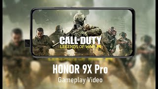 CALL OF DUTY mobile Gameplay Video || HONOR 9X Pro