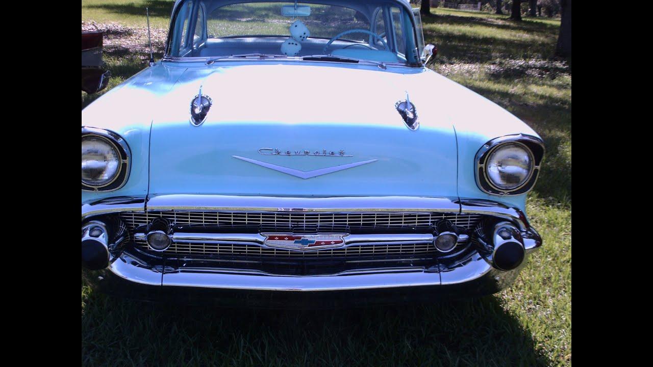 1957 Chevy 210 Two Door Sedan Bluwht Ren161012 Youtube Chevrolet