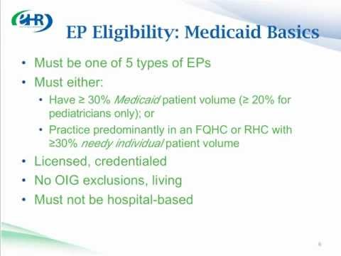 CMS Presents: EHR Incentive Programs - Introduction, Overview, and Structure