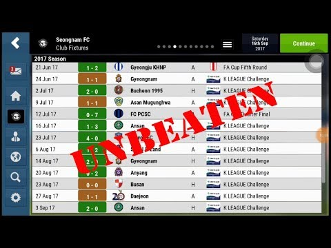 UNBEATEN SEASON!! Football Manager Mobile 2018 Tactics and Formation with  Seongnam FC