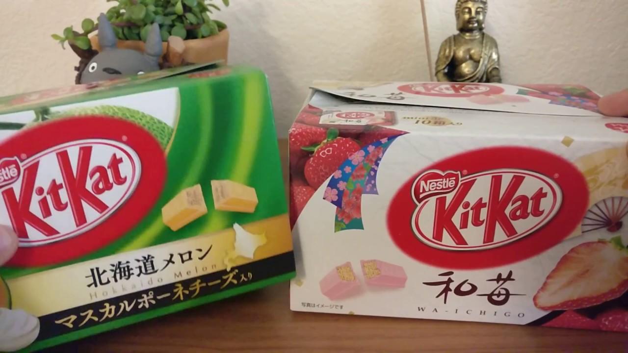 Kit kat hokkaido melon wa ichigo japanese strawberry youtube kit kat hokkaido melon wa ichigo japanese strawberry voltagebd Gallery