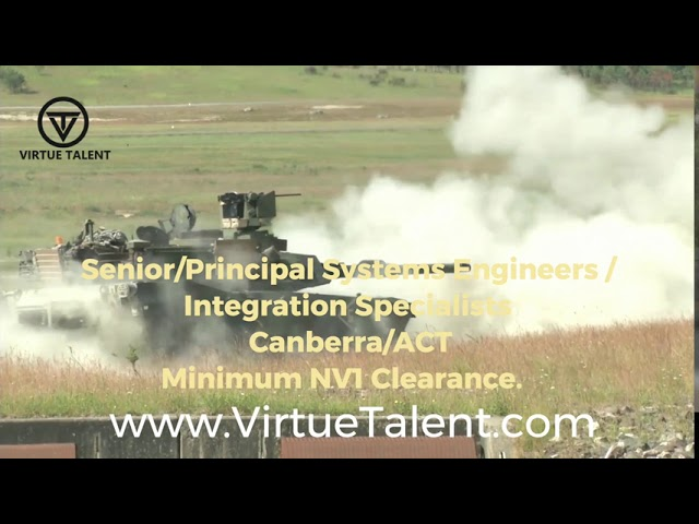 Systems Engineer Job - Defence - ACT/VIC/SA - VIRTUE TALENT PTY LTD