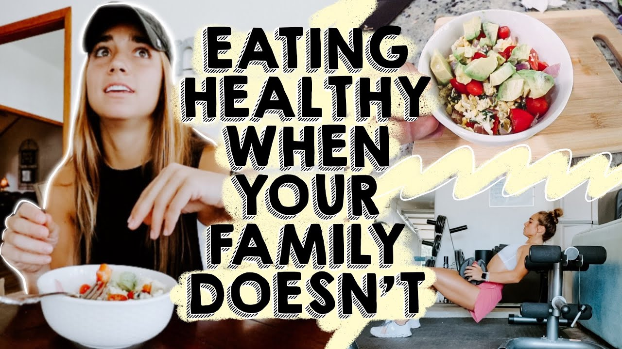WHAT I EAT IN A DAY | how to eat healthy when your family doesn't...