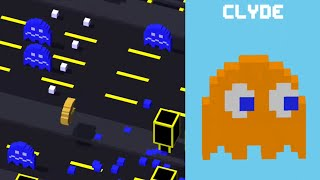 ★ CROSSY ROAD unlock CLYDE ★ New Secret Character | PAC MAN UPDATE | iOS