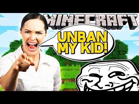BANNING A KID IN MINECRAFT!