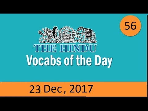 Daily The Hindu Vocabulary Dec Learn New Words With - 23 new words