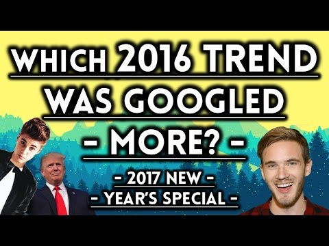 Which 2016 Trend Was Googled More? - 2017 New Year's Special - The Higher Lower Game