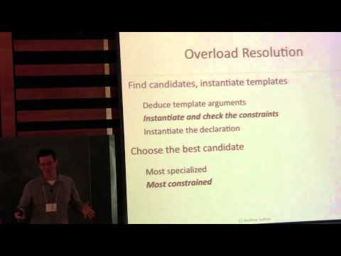 Andrew Sutton: Concepts Lite: Constraining Templates with Predicates