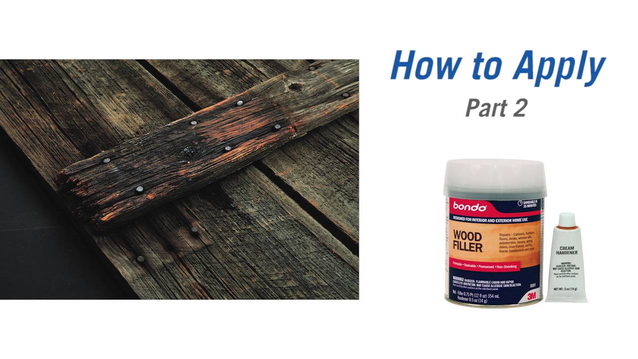 How to Repair Wood with Bondo Wood Filler and Rotted Wood Restorer