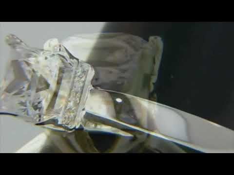 Alison Princess cut Solitaire Engagement Ring