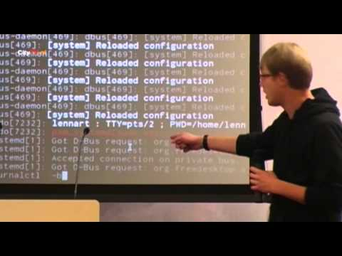 T-DOSE 2012, Open Source Lennart Poettering, The Systemd Journal