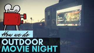 How We Do Outdoor Movie Night?  🌖 📹 📺 Full Time RV Living Tips | RVing Gear & Tech Gadgets | Rif6