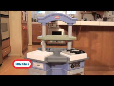 little tikes sizzle n pop kitchen - youtube