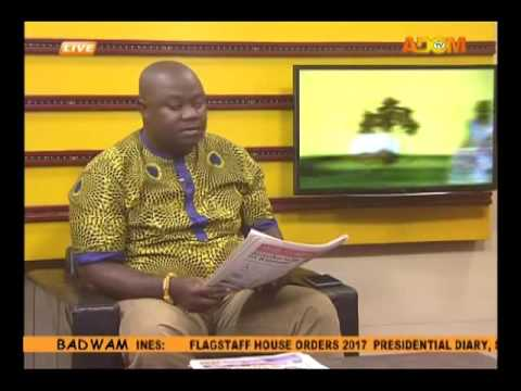 Badwam Newspaper Headlines on Adom TV (8-8-16)