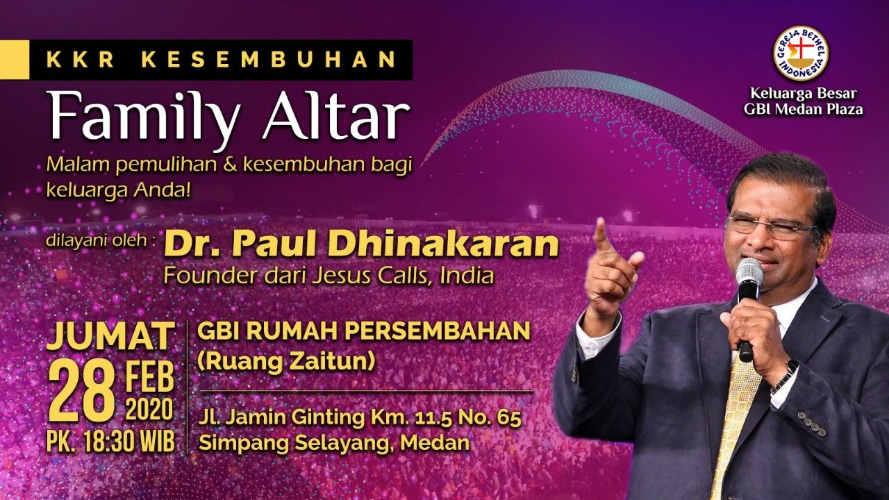 Kkr Kesembuhan Family Altar Pkl 18 30 Wib 28 Pebruari 2020 Youtube