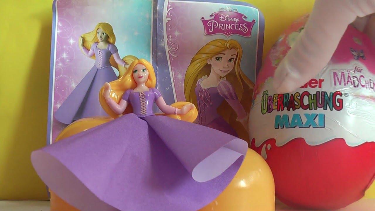2b41f25ff4ac Princezná ZLATOVLÁSKA Disney Ružové Maxi KINDER Vajíčka s prekvapením  RAPUNZEL FS-B-10