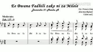 Ee Bwana Fadhili zako ni za milele.By Francis Simwela (Instrumental)