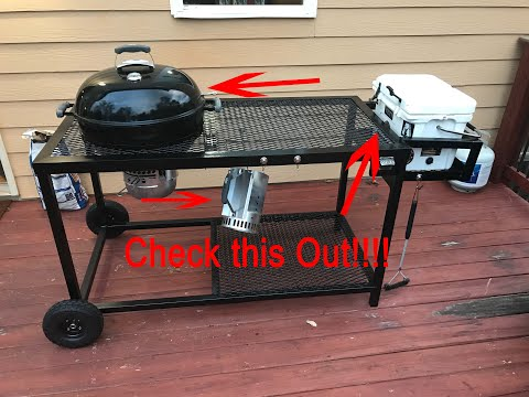 DIY - Weber Grill and Chill Complete!!  Awesome Grill Cart!