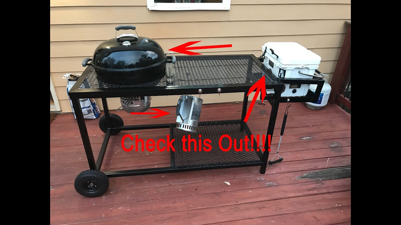Diy Weber Grill And Chill Complete Awesome Grill Cart Youtube,Concrete Floors In Kitchen