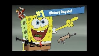 I played fortnite with the real **Spongebob SquarePants**