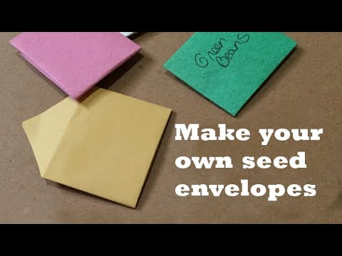Make your own seed envelopes