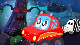 little red car | Halloween tree | scary car song for children