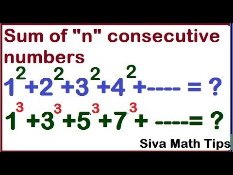 """Sum of """" n"""" consecutive numbers of natural, even and odd 