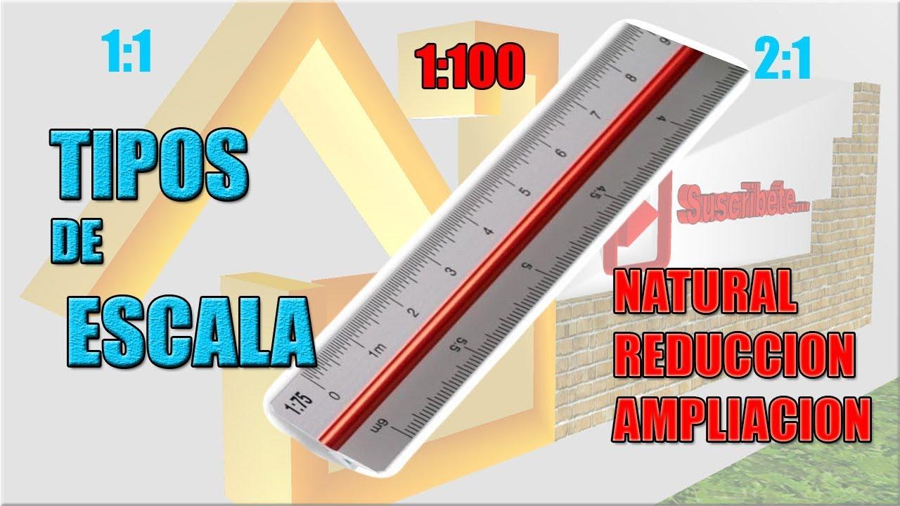 Tipos de escala escala 1 50 1 100 1 1 youtube - Tipos de estores para salon ...