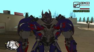 GTA San Andreas - Optimus, Grimlock And Drift MOD (Transformers 4)(Download: - Drift: http://www.gtaall.com/gta-san-andreas/skins/47457-drift-transformers-rise-of-the-dark-spark.html - Optimus Prime: ..., 2014-11-09T16:25:09.000Z)