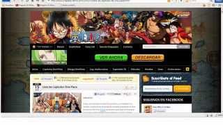 Ver capitulos de One Piece online en sub español latino. (2013)