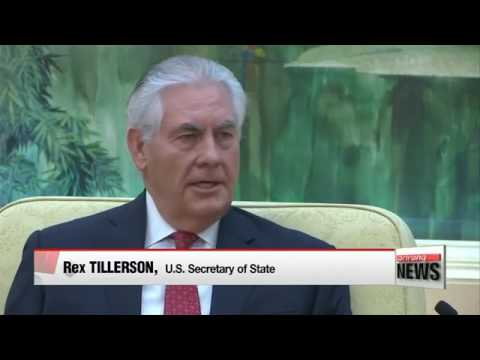 US  Secretary of State Rex Tillerson meets Chinese president to strengthen ties