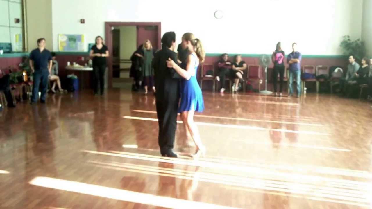 Argentine Tango Steps: Ocho Cortados. Back Ochos. Volcados. Embishments tangonation.com 11/24/2013 - YouTube