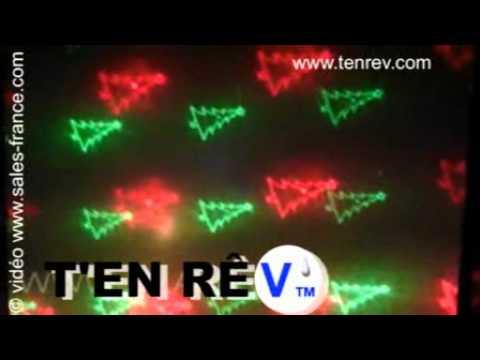Mini laser special no l 6 figurines en animation de lumi re - Laser facade noel ...