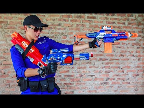Nerf Guns War : S.W.A.T Girl Of SEAL TEAM Special Hunts Down Dangerous Crime Groups