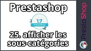 Prestashop 1.7 - Afficher les sous catégories (ép. 25)