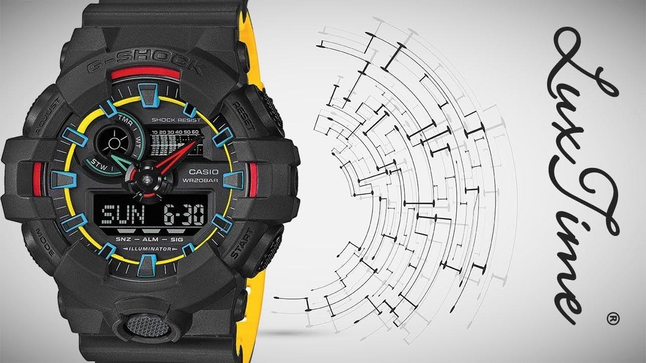 ec096c8e70a028 LuxTime.pl zegarek CASIO GA-700SE-1A9ER - YouTube