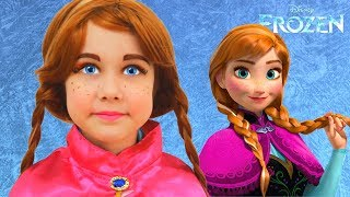 Frozen Anna Kids Makeup and Costume Julia pretend Princess
