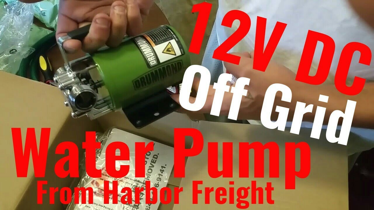 12v DC Water Pump From Harbor Freight Unboxing! Off Grid Water Solution