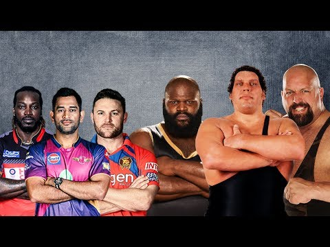 M.S. Dhoni & McCullum & Chris Gayle VS André the Giant & Big Show & Mark Henry - Elimination Tag
