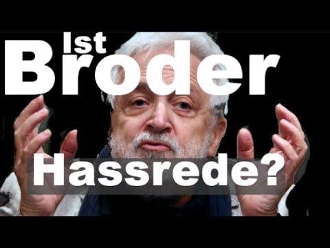 Broders Hassrede : Wie Fassbock Broder löschte... Vorerst gescheitert