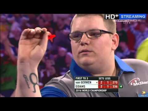 ALMOST THE BIGGEST SHOCK IN WORLD DARTS HISTORY - Michael van Gerwen vs Rene Eidams - First Round