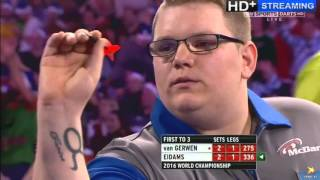 ALMOST THE BIGGEST SHOCK IN WORLD DARTS HISTORY - Michael van Gerwen vs Rene Eidams - First Round thumbnail