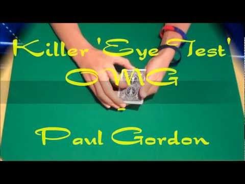 Killer 'Eye Test' OMG by Paul Gordon - Amazing Packet Card Trick - Performance