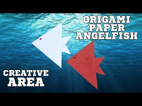 Origami paper Angelfish - How to Make an easy  diy origami Angelfish with paper -  Video tutorial.