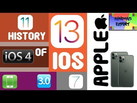 HISTORY OF APPLE IOS (2007-2020)